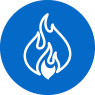 Gyproc fire protection icon blue